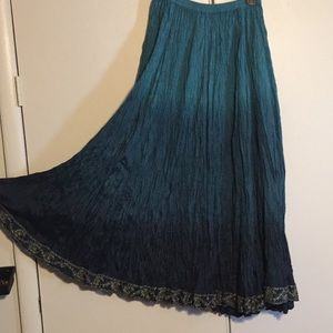 Teal Ombré Boho SKIRT